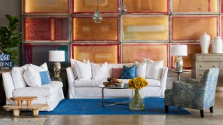 White Slipcover and Colorwall
